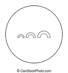 Tire on playgarden icon in outline style isolated on white...