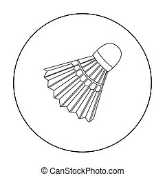 Badminton icon outline. Single sport icon from the big...