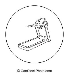Treadmill icon outline. Single sport icon from the big...