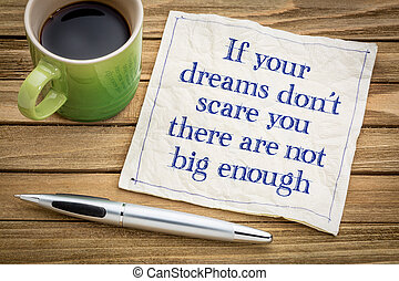 Your dreams are not big enough