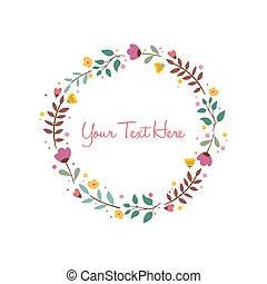 Flower Background Frame Vector Illustration Design Template