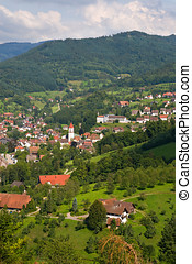 Typical village in the Black Forest, Germany