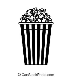 pop corn isolated icon vector illustration design