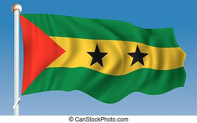 Flag of Sao Tome and Principe - vector illustration