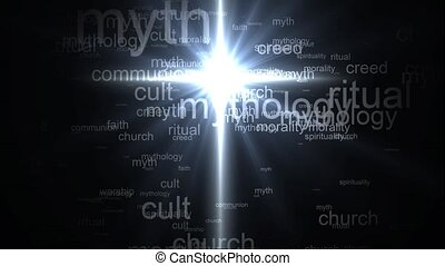 Religion faith cross. Words synonyms for religion
