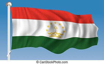 Flag of Tajikistan - vector illustration
