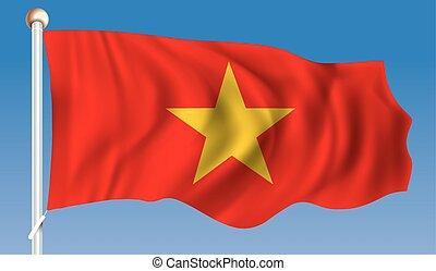 Flag of Vietnam - vector illustration
