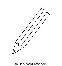 figure pencil color icon