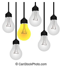 bulbs icon stock image, vector illustration design