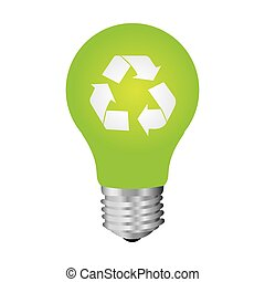 green bulb eco icon