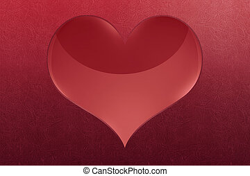 Big red heart shape
