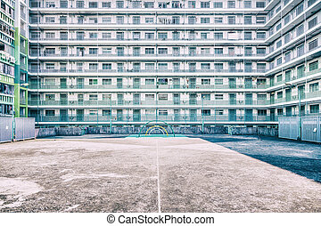 playground in public house - public housing in Hong Kong,...