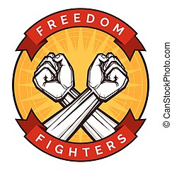 clenched fist vector illustration for resistance and...