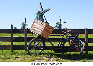 The bicycle in Holland - Clear and traditional landmark for...