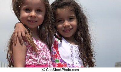 Happy Girls Children  Friends