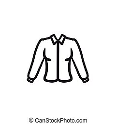 Female blouse sketch icon. - Female blouse vector sketch...