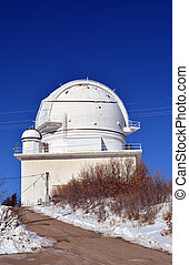 Observatory - National Solar Observatory in the snow, in the...
