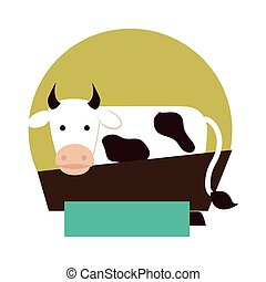 cow animal farm icon