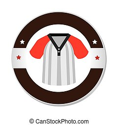 baseball sport shirt uniform emblem icon vector illustration...