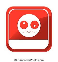 Emoticon, cara, enfermo, icono
