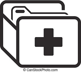 Medical Records Icon. Flat Design. - Medical Records and...