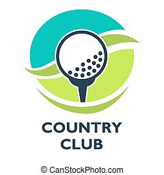 Golf country club logo template or icon for tournament and...