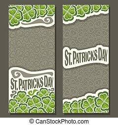 Vector vertical Banner for St Patrick's Day