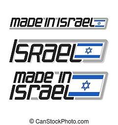 """Vector illustration """"made in Israel"""" - Vector illustration..."""