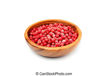 Frozen berries. Red sea buckthorn. - Frozen red...