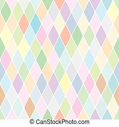 Harlequin pale diamond pattern Color bright decorative...