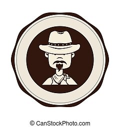 cowboy character wild west icon