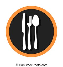 set cutlery tools icons