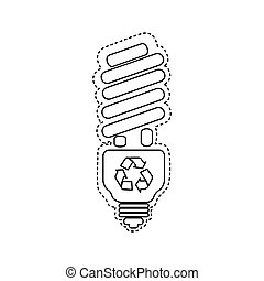 figure bulb energy saver icon