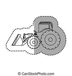 figure backhoe loader icon, vector illustration image design