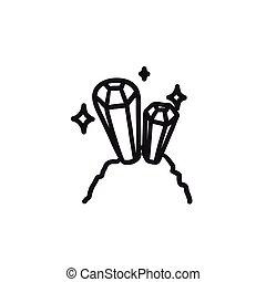 Gemstones sketch icon. - Gemstones vector sketch icon...
