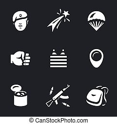 Vector Set of Russia Airborne troops Icons. - Soldier,...
