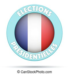 Circle Symbol of Election 2017 in France.
