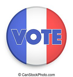 Badge of Election 2017 in France.