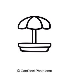 Playground sketch icon. - Playground vector sketch icon...