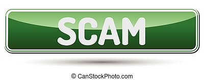 SCAM - Abstract beautiful button with text.