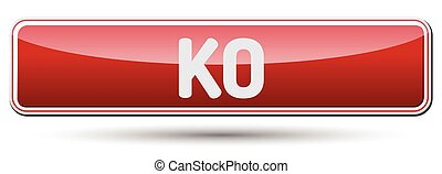KO - Abstract beautiful button with text.