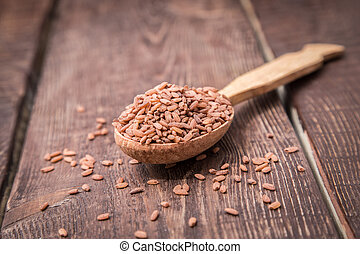 """brown grain rice variety """"devzira"""". especially for pilaf"""