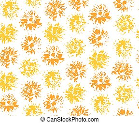 Seamless pattern with imprints of dandelions. Vector...