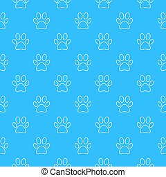 Blue footprint seamless pattern