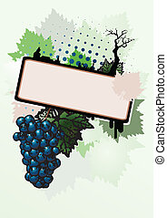 wine poster background - green wine poster background