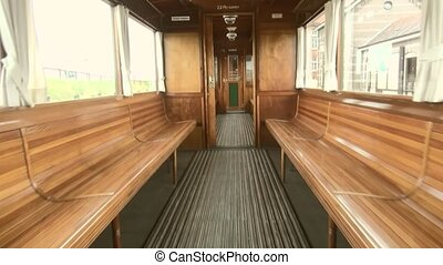 Interior of a classic train (second classe) - Classic train...
