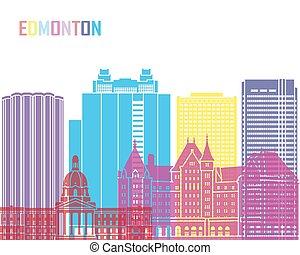 Edmonton V2 skyline pop in editable vector file