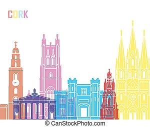 Cork skyline pop in editable vector file
