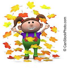 Herbst, m�dchen