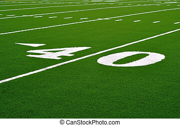 Forty Yard Line on American Football Field
